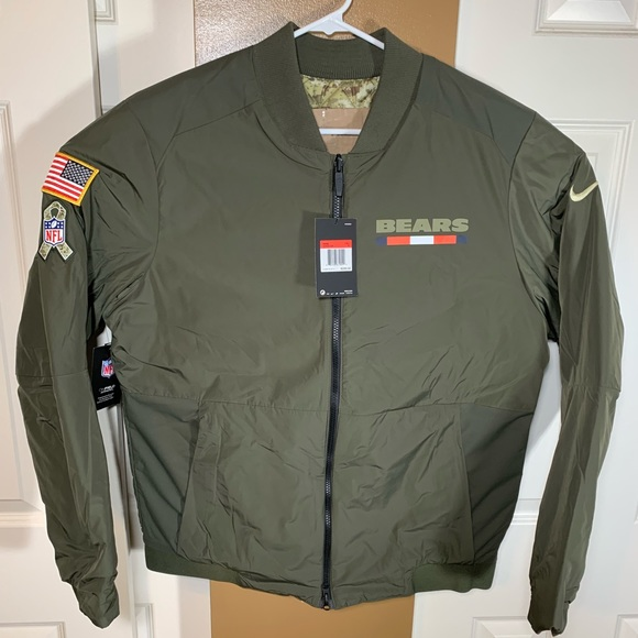 big sale 4f26f 71ee4 Chicago Bears Salute To Service Bomber Jacket NWT